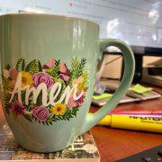 Amen Coffee mug office