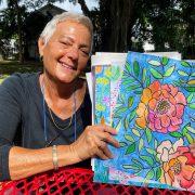 Clara DiBella with watercolors