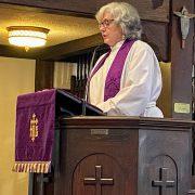 Rev. Cori Lent pulpit