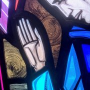 Stained glass hand