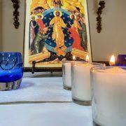Taize candles icon parish hall tight