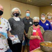 Way Cafe masked volunteers