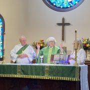 Worship at Altar